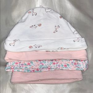 Carter's 4-pack Baby Hats (0-3m)